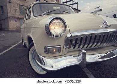 March 30, 2013 - Moscow, Russia. The Soviet executive car Volga GAZ24 after a restoration.