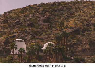 March 30, 2019: Luxury home in the hills of Palm Springs, California, USA.