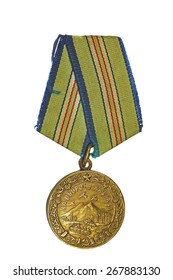 "March 31, 2015: Medal ""For the Defence of the Caucasus"" on a white background"
