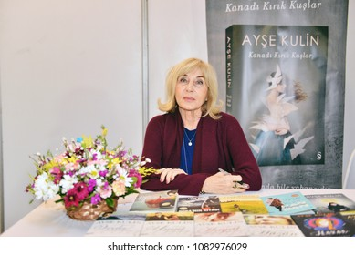 March 4 2017, Signature day of Novelist Ayse Kulin in international book fair in Cnr expo, istanbul, Turkey