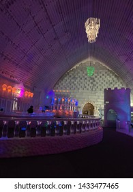 March 5 2017 : Aurora Ice Museum , Fairbanks, Alaska : The Aurora Ice Bar for guests to be comfortable while having drink, Chena Hot Springs Resort, Fairbanks, Alaska, USA