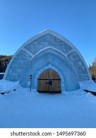 March 5 2017 : Chena Hot Springs Resort, Fairbanks, Alaska : In front of Aurora Ice Museum during winter, Fairbanks, Alaska, USA
