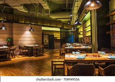 March 5, 2017:  Restaurant interior in China Changzhou