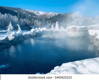 March 5 2019 : Hot springs at Chena Hot Springs Resort, Fairbanks, Alaska