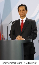 MARCH 6, 2008 - BERLIN: the Prime Minister of Vietnam Nguyen Tan Dung at a press conference after a meeting with the German Chancellor in the Chanclery in Berlin.