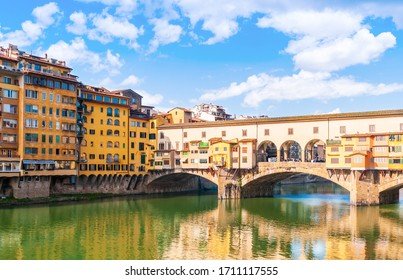 March 6, 2011: The Ponte Vecchio over the Arno River in Florence in Tuscany, Italy