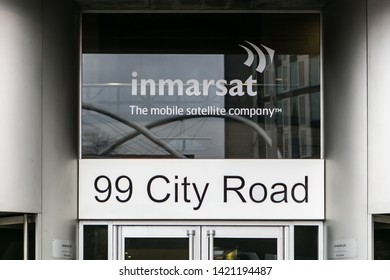 March 6, 2017 - London, England. Inmarsat HQ building on old street in London.