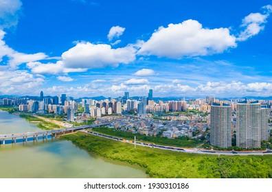 March 6, 2021:Urban scenery of Huizhou City, Guangdong Province, China