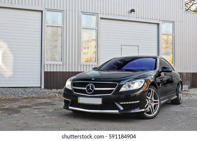 March 7, 2010; Odessa, Ukraine; Mercedes-Benz CL65 AMG V12. Editorial photo.
