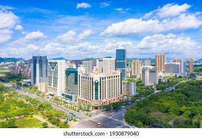 March 7, 2021:Urban scenery of Huizhou City, Guangdong Province, China