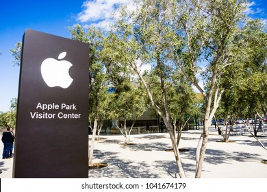 March 8, 2018 Cupertino / CA / USA - Apple Park Visitor Center newly opened across the new Company's offices in Silicon Valley, south San Francisco bay area