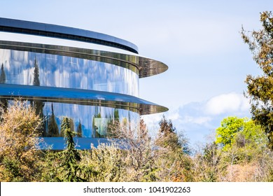 March 8, 2018 Cupertino / CA / USA - The new Apple Offices located in Silicon Valley, south San Francisco bay area