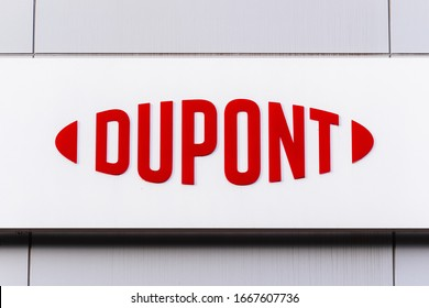 March 8, 2020 Sunnyvale / CA / USA - DuPont logo displayed at their Silicon Valley Technology & Innovation Center; DuPont de Nemours, Inc is an American company operating in the chemicals industry;