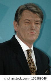 MARCH 9, 2005 - BERLIN: Ukranian president Viktor Yushchenko (Viktor Juschtschenko) at a press conference after a meeting with the German Chancellor in the Chanclery in Berlin.