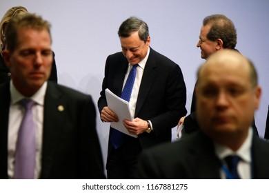 MARCH 9, 2017 - FRANKFURT AM MAIN: ECB Preisdent Mario Draghi at a press conference at the ECB headquarters in Frankfurt am Main.