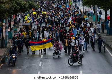 March against the reforms of the government of Ivan Duque and the police abuse , Bogotá May 5, 2021