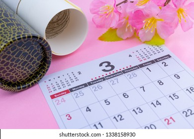 March Calendar (Graduation Image)