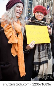 March For Our Lives: Patti Smith and Anne Waldman, both artists and writers, participate in the march on 6th Ave to end gun violence, NEW YORK MAR 24 2018.