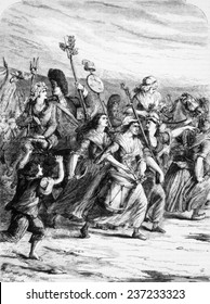 March of the women to Versailles, 1789.