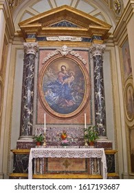MARCHE, LORETO – SEPTEMBER 24, 2006:  medieval painting in Santa Casa basilica (Holy House). The basilica is among the most important and visited Marian shrines of the Catholic world.