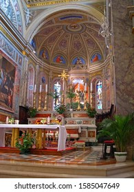 MARCHE, TOLENTINO – SEPTEMBER 23, 2006: Saint Nicolas Basilica altar. Beautiful and attractive.