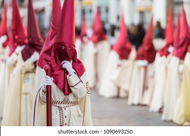 Marchena, SEVILLE, SPAIN - March 29, 2018: Procession of Holy Week('Semana Santa') in Marchena, SEVILLE. Holy Thursday afternoon. Procession of the Brotherhood of the Sweet Name