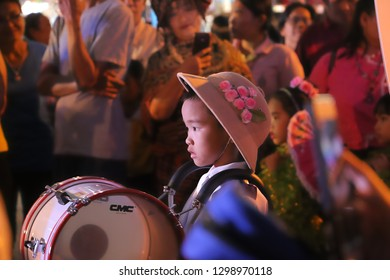 marching band of student in Umbrella festival  18-01-62 ChiangMai Thailand Editorial