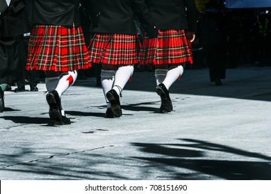 Marching Scottish Kilts