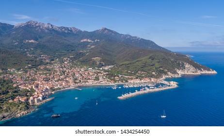 Marciana Marina, Isle of Elba. Panoramic view from above