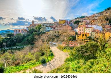 Marciana village in  Island of elba, Tuscany, Italy