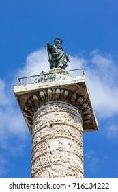 Marco Aurelio column in Rome, Italy