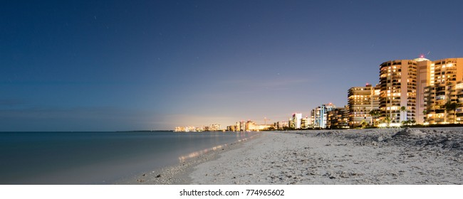 Marco Island beach at Night