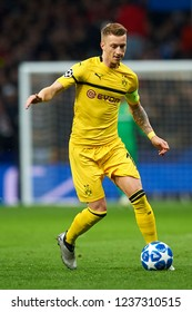 Marco Reus of Borussia Dortmund during the match between Atletico Madrid and Borussia Dortmund at Wanda Metropolitano Stadium, Madrid on Nov. 06of 2018.