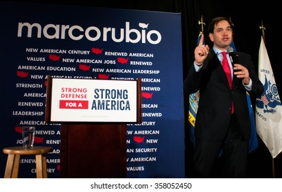 Marco Rubio speaks at the American Legion post in Hooksett, New Hampshire, on January 4, 2016.