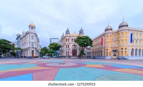 Marco Zero Square in Recife, Pernambuco state Brazil