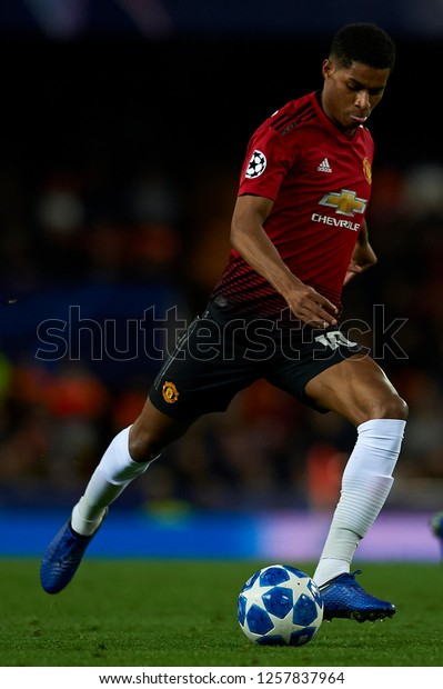 Marcus Rashford Manchester United Does Passed Stock Photo Edit Now 1257837964