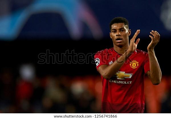 Marcus Rashford Manchester United During Match Stock Photo Edit Now 1256741866