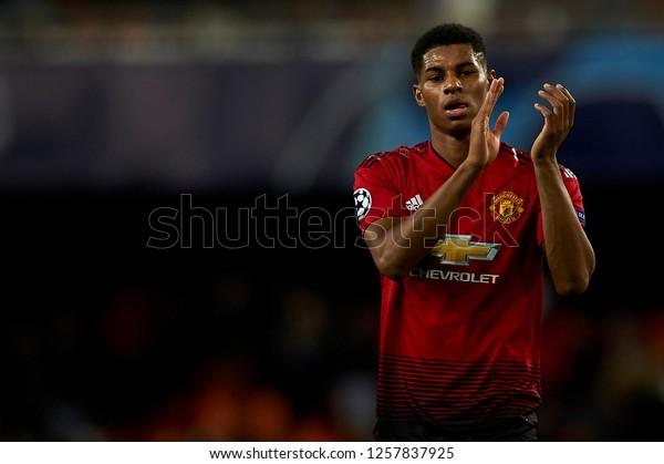 Marcus Rashford Manchester United During Match Stock Photo Edit Now 1257837925