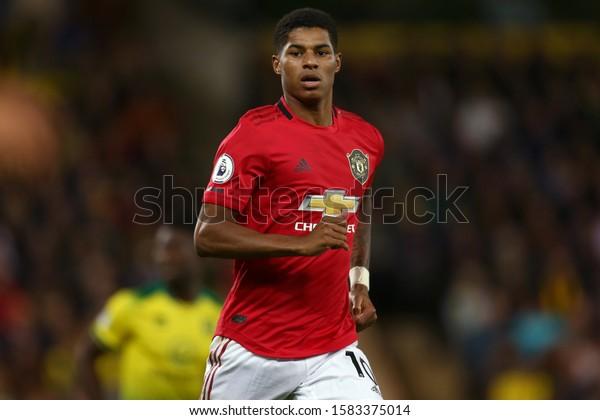 Marcus Rashford Manchester United Norwich City Stock Photo Edit Now 1583375014