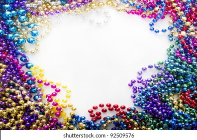 mardi gras beads for decoration
