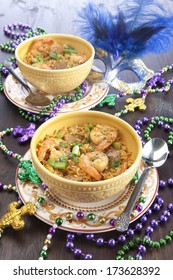 Mardi Gras Dinner With Shrimp