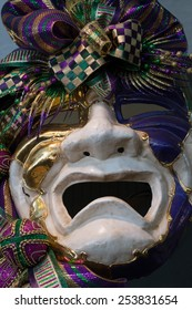 Mardi Gras mask on display in New Orleans