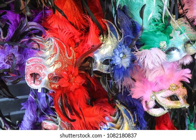 Mardi Gras masks in  New Orleans, Louisiana