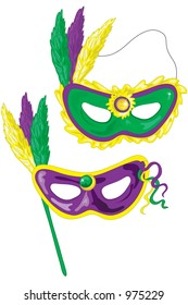 Mardi gras masks. Who dat?