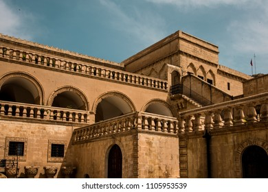 Mardin, Artuklu / Turkey - April 26 2018: City center, Mardin Museum building was constructed by an Assyrian patriarchate in 1895.