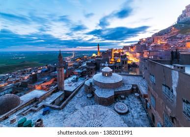 Mardin City in Turkey. Mardin old town. Mardin is a historical city in Southeastern Anatolia, Turkey. Mardin, the shining city of Mesopotamia.