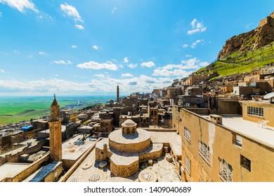Mardin City in Turkey. Old town and Mardin Castle. Mardin is a historical city in Southeastern Anatolia, Turkey. Mardin, the shining city of Mesopotamia.