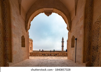 Mardin Madrasa Gates and mosque minaret, Turkey