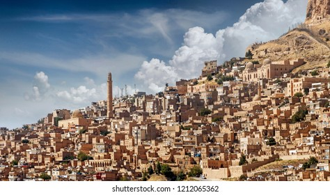 Mardin is an old city. Historical stone buildings, the city's minarets Mardin's best tourist attractions Turkey.