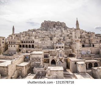 Mardin is Old City Historical Stone Buildings in Turkey